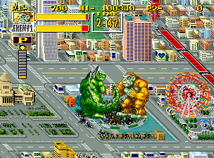 King of the Monsters Neo Geo Tokyo