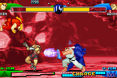 Street Fighter Alpha 3 Game Boy Advance Two players against the CPU is all! It's a Dramatic Battle!