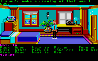 Zak McKracken and the Alien Mindbenders Atari ST Zak's bedroom