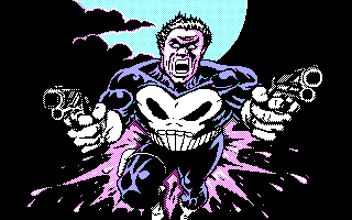 The Punisher DOS Opening screen (CGA)