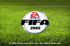 FIFA Soccer 2005 Game Boy Advance Title Screen