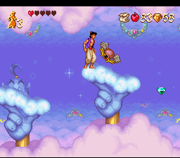 Disney's Aladdin SNES Inside the lamp