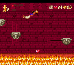 Disney's Aladdin SNES Red crystals are usually difficult to get.