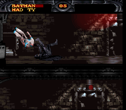 Batman Forever SNES Throwing a thug