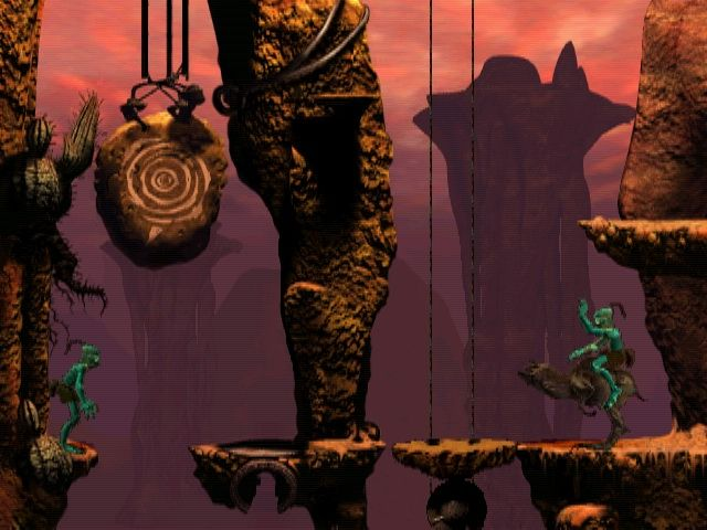 Oddworld: Abe's Oddysee Windows The animal I'm riding has its own will and does not always obey me.