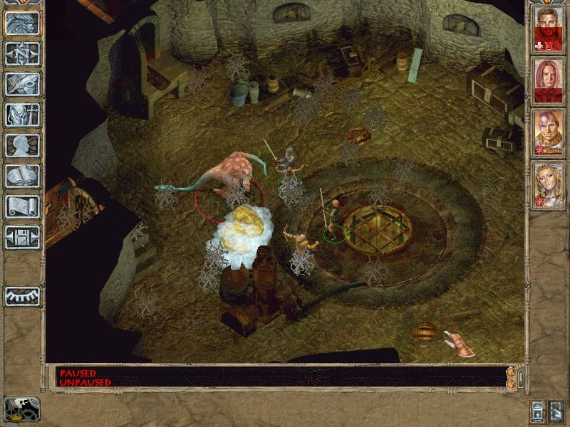 Baldur's Gate II: Shadows of Amn Windows The first major fight in Irenicus' lair is with a poisonous creature.