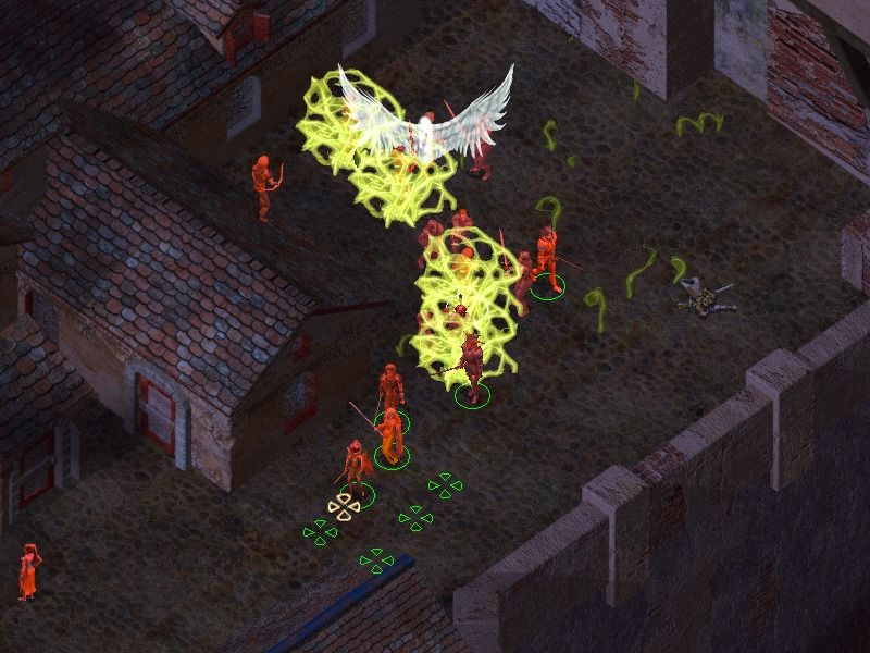 "Baldur's Gate II: Shadows of Amn Windows ... and in the night. The ability ""infravision"" highlights persons."