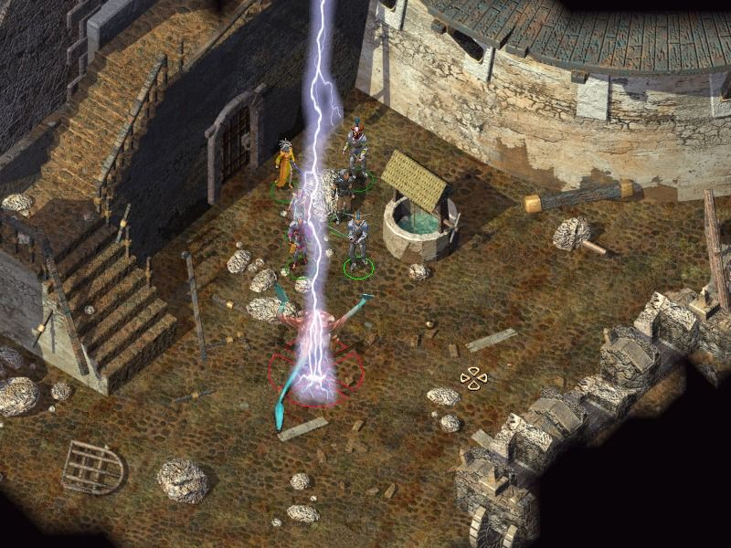 Baldur's Gate II: Shadows of Amn Windows Clerics may conjure lightning strikes.