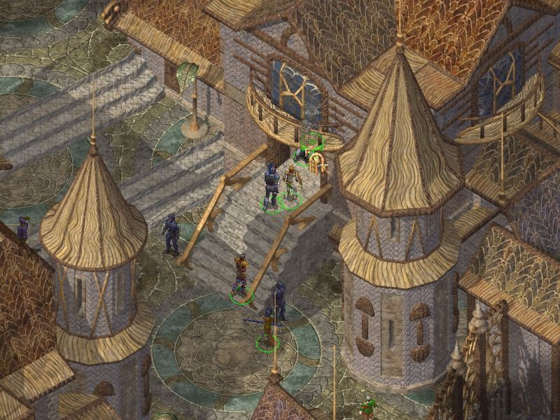 Baldur's Gate II: Shadows of Amn Windows Strolling through the beautiful town of Trademeet.
