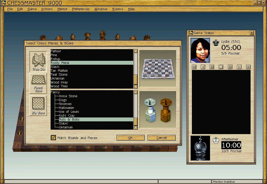 Chessmaster 9000 Windows You can select from a few dozen different graphics for both the board and the pieces