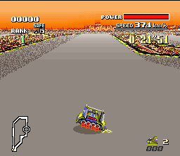 F-Zero SNES Dr. Robert Stuart's Golden Fox is the lightest car of the 4 available ones. Then, it is most easy to execute tight turns.