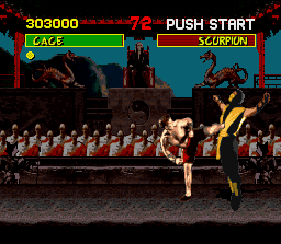 Mortal Kombat SNES Johnny Cage's Fatality. Without blood is VERY boring.