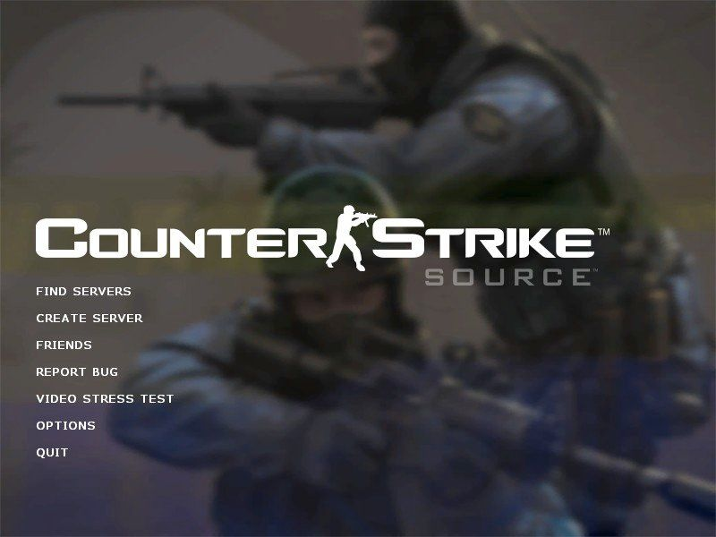 Counter-Strike: Source Windows The main menu.