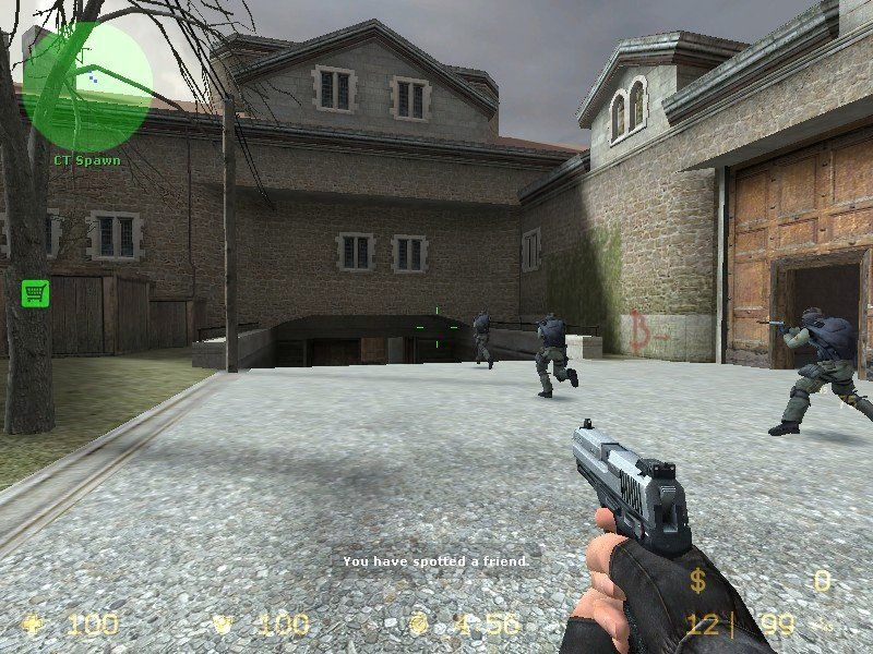 Counter-Strike: Source Windows Followed by a mad rush to the target areas.