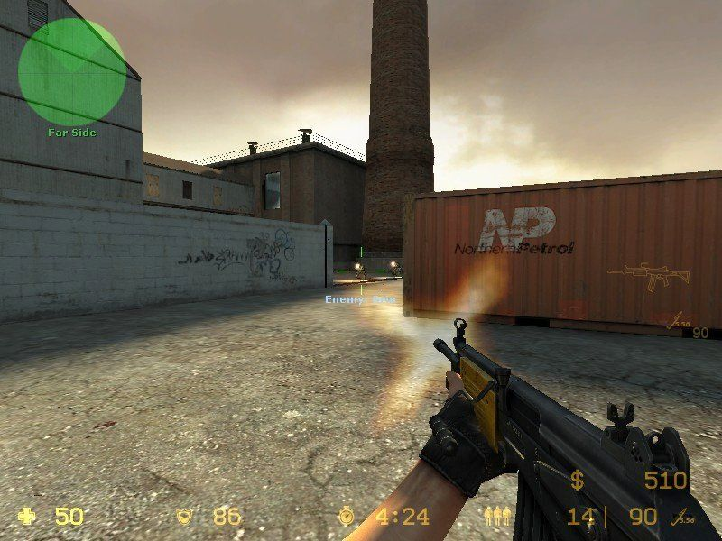 Counter-Strike: Source Windows A shootout in a freight yard.
