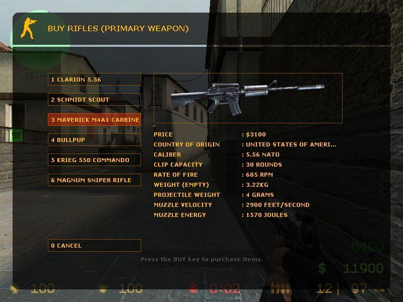 "Counter-Strike: Source Windows ""Real world"" weapons have slightly different names for legal reasons."