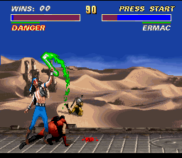 Ultimate Mortal Kombat 3 SNES Bye bye, Nightwolf...