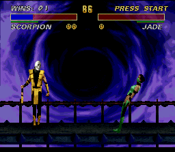 Ultimate Mortal Kombat 3 SNES It is incredible as a simple skull can scare in such a way...