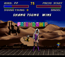 Ultimate Mortal Kombat 3 SNES During the friendship, Shang Tsung morphs into... Joust!