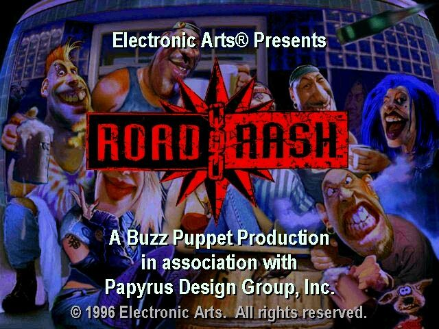 Road Rash Windows Title screen