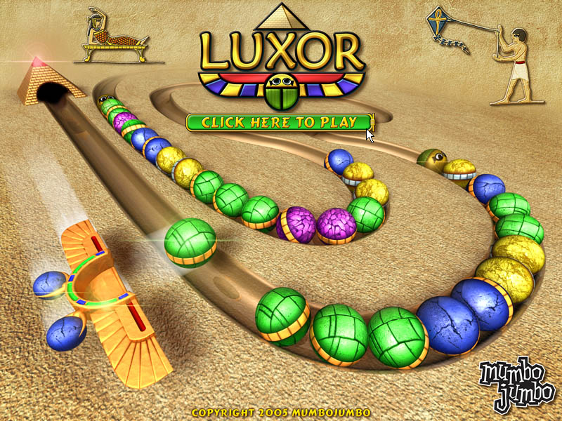 Luxor Windows Title screen