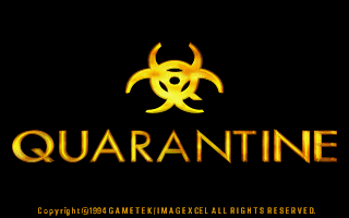 Quarantine DOS Title screen