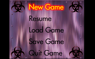 Quarantine DOS Main menu
