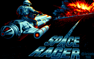 Space Racer Atari ST Title