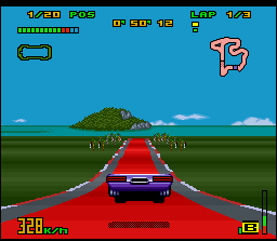 """Top Gear 3000 SNES Jumping with """"the face"""" in the """"gasoline"""". Radical!"""