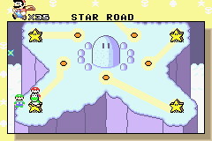 Super Mario World: Super Mario Advance 2 Game Boy Advance After some misfortunes, you find the Star Road: like in 1991...