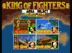 Fatal Fury Neo Geo Where is your 1st fight? It's your next choice!