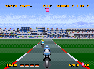 Riding Hero Neo Geo Racing in Spain (W.G.P. mode)