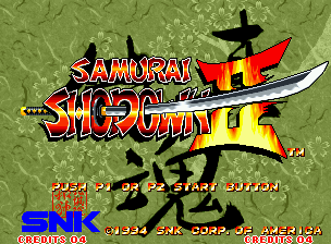 Samurai Shodown II Neo Geo Title screen.