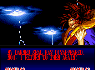Samurai Shodown II Neo Geo Look! Amakusa makes some appearances in the game! But she isn't the final boss this time...