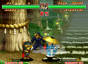 Samurai Shodown II Neo Geo What's happening? Samurai Shodown is a match known for sheltering professional fighters, not apprentices!