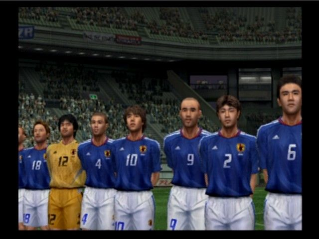World Soccer: Winning Eleven 7 International PlayStation 2 If you don't turn it off, you'll always watch the entrance of both teams on the field (this one shows Japan and England)