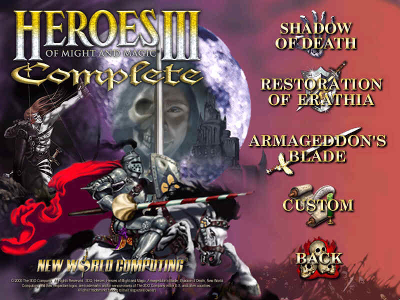 Heroes of Might and Magic III: Complete - Collector's Edition Windows Choose From The Three Campaigns