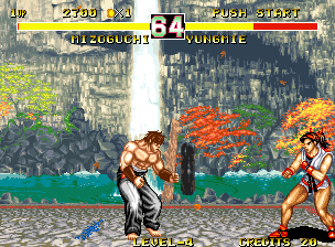 Fighter's History Dynamite Neo Geo Fighting Yungmie