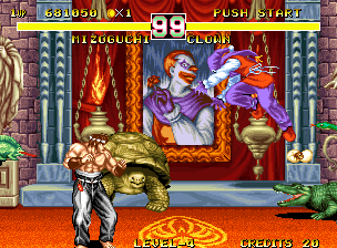 Fighter's History Dynamite Neo Geo Fighting Clown
