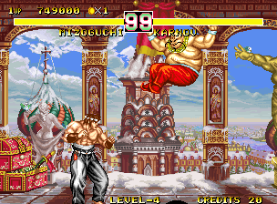 Fighter's History Dynamite Neo Geo Fighting Karnov