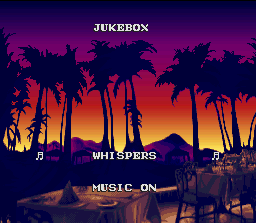 Side Pocket SNES It's song time in Jukebox option. Select one of many musics and relax observing the sunrise...