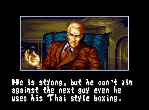 "Fatal Fury Neo Geo Seated in its armchair, Geese Howard observes each fight intently, waiting the ""H hour"" to attack..."