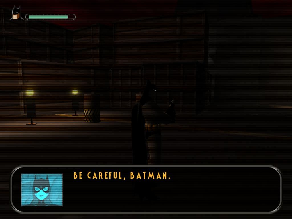 "Batman: Vengeance Windows Batgirl can be called anytime for helpful...uhm... ""advice"" as this"