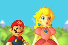 Mario Pinball Land Game Boy Advance Mario and Peach are surprised with something...
