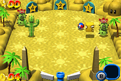 Mario Pinball Land Game Boy Advance The next step: a barren desert.