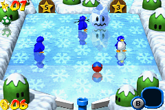 Mario Pinball Land Game Boy Advance Other ice area, this time with some lazy penguins.