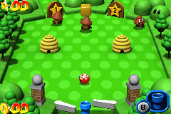 Mario Pinball Land Game Boy Advance Your task: defeat some Goombas (and other enemies) in a peaceful and beautiful forest.