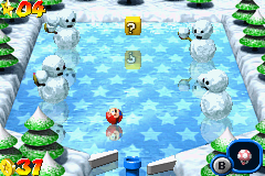 Mario Pinball Land Game Boy Advance These ice puppets team are armed and dangerous!