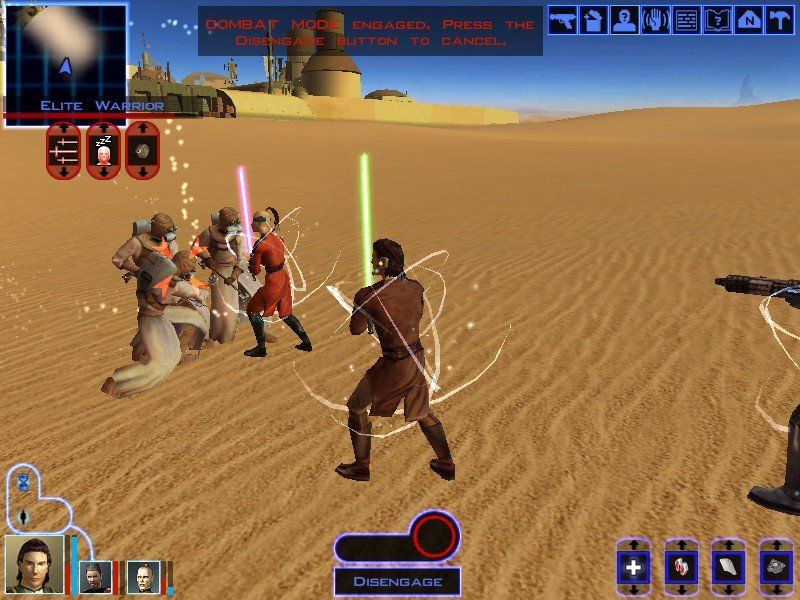 Star Wars: Knights of the Old Republic Windows It wouldn't be Star Wars without Tatooine and Sand People.