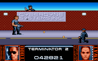 Terminator 2: Judgment Day Amiga Level 6 - Make your way through the SWAT units